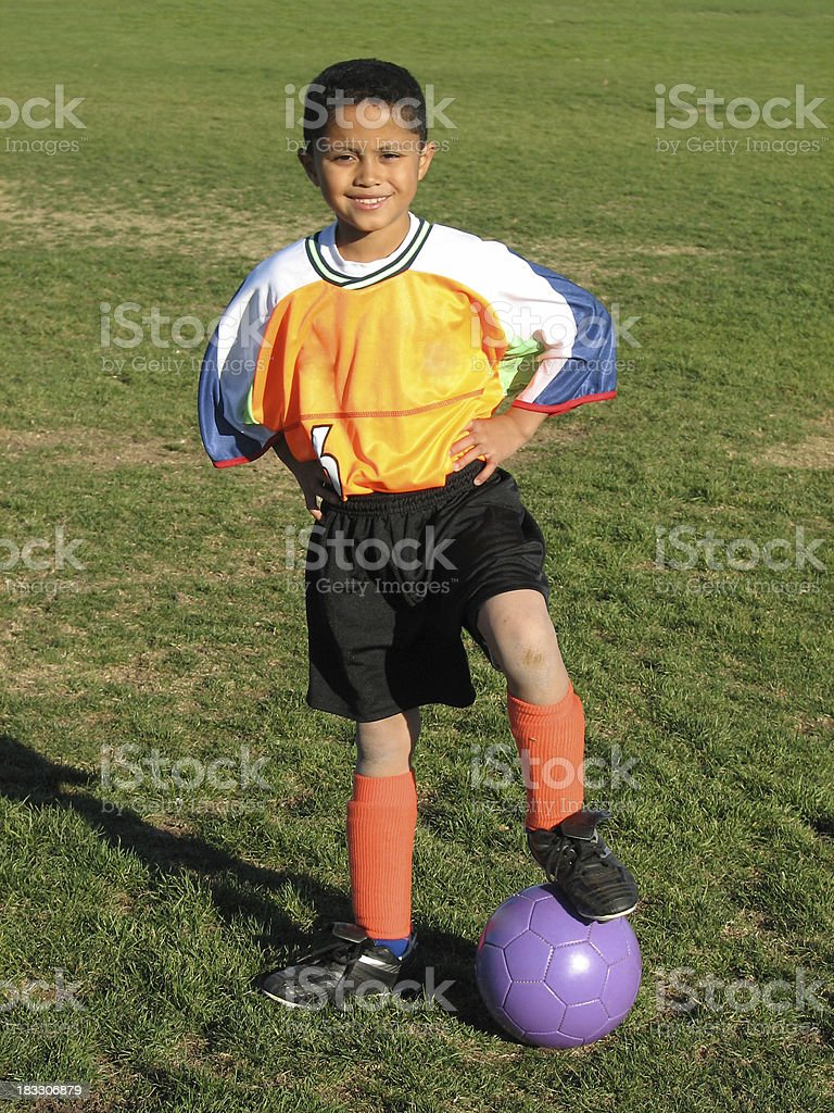 Soccer player 2 stock photo