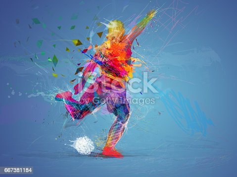 istock soccer player abstract concept 667381184