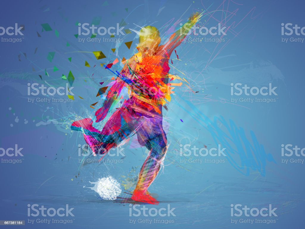 soccer player abstract concept - foto de stock