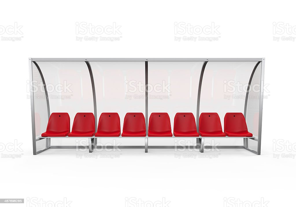 Soccer Player Bench stock photo