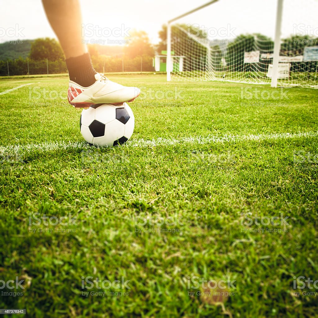 Soccer Player Detail stock photo