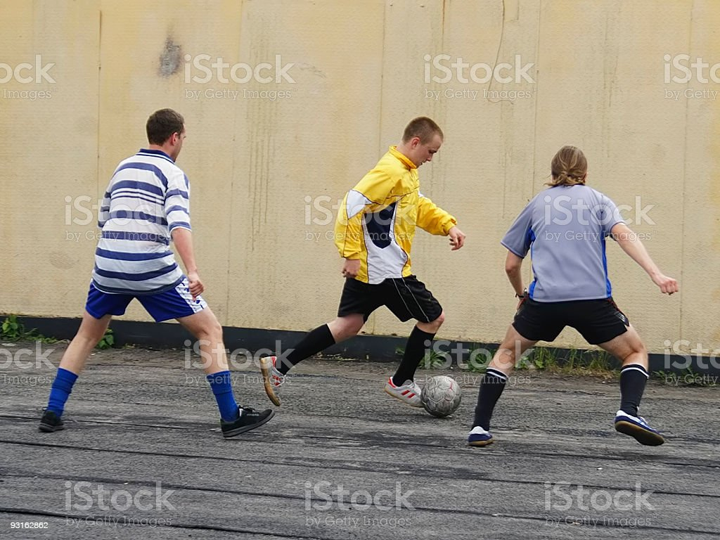 Футболист Дриблинг стоковое фото