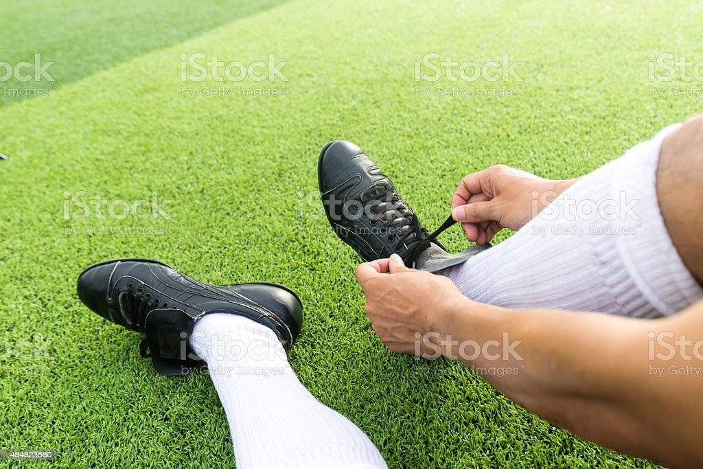 Fußball Spieler sind Sie bereit für das Spiel. – Foto