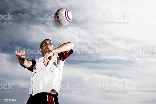 Soccer player heading ball against stormy sky picture id108222654?b=1&k=6&m=108222654&s=612x612&h=rw ow1srjzgebg4hm4m1iy hl5bfiormqc3wlmformu=