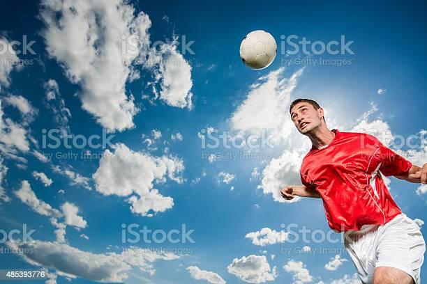 Soccer player heading the ball against the sky picture id485393776?b=1&k=6&m=485393776&s=612x612&h=kyo dyak4g yqsr0my3xf omn8wckj9qvjzfuacqmbm=