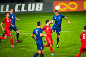 istock Soccer player heading the ball 901788334