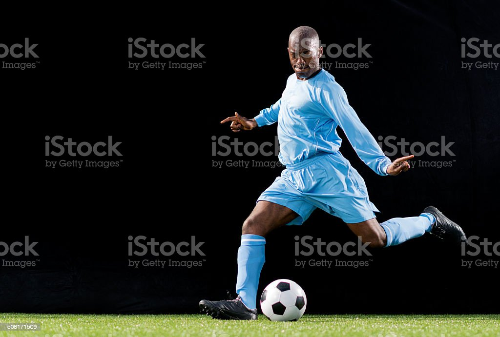 Soccer Player In Action stock photo