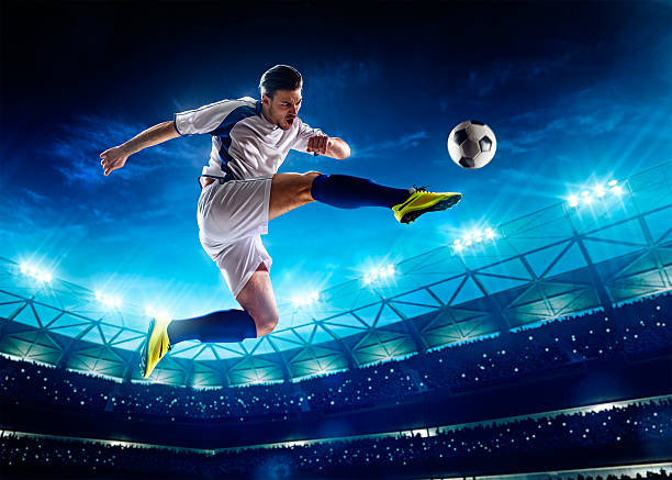 Fußballspieler in Aktion – Foto