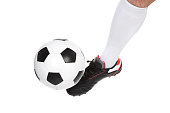 istock Soccer player kicking the ball 516138454