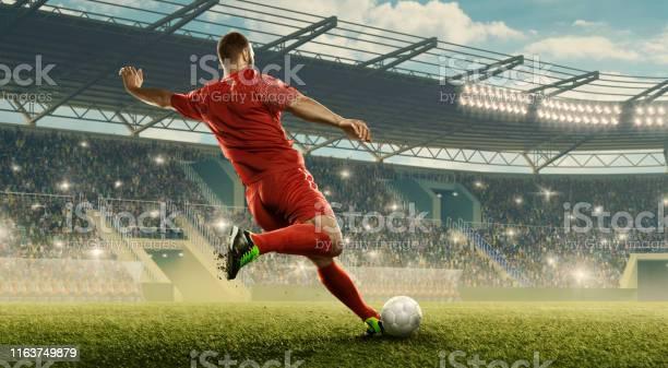 Soccer player kicks a ball picture id1163749879?b=1&k=6&m=1163749879&s=612x612&h=ddgl57hel h8w8cp yb 6d8svz4n sgl5dgumws6tyc=