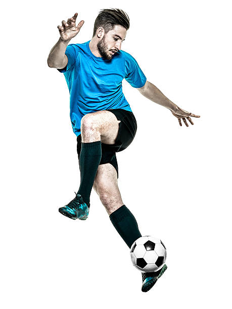 soccer player man isolated - soccer player stock photos and pictures