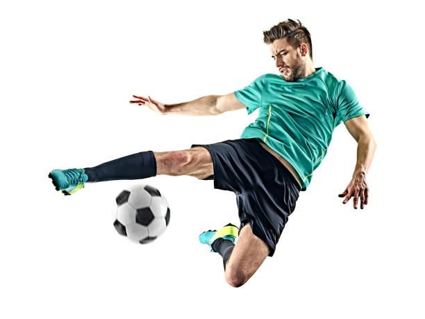 Fußballspieler Mann isoliert – Foto