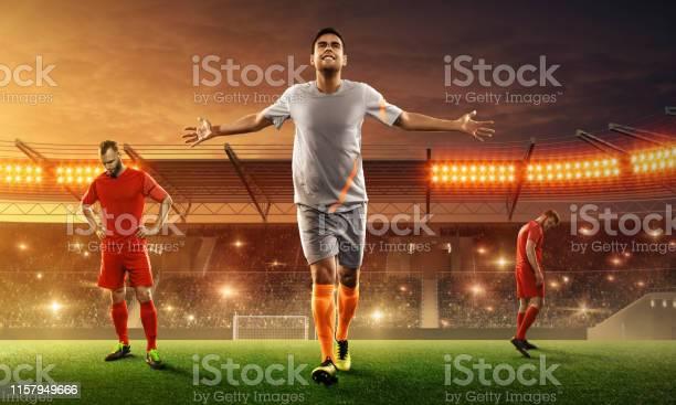 Soccer player on a stadium celebrates victory after the game picture id1157949666?b=1&k=6&m=1157949666&s=612x612&h=lpyxgkzocy49oynwdlsm9gqy0nlgcprru4g2odj4lzi=