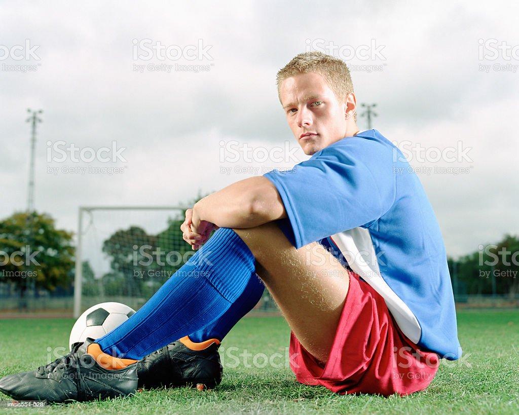 Jugador de fútbol foto de stock libre de derechos