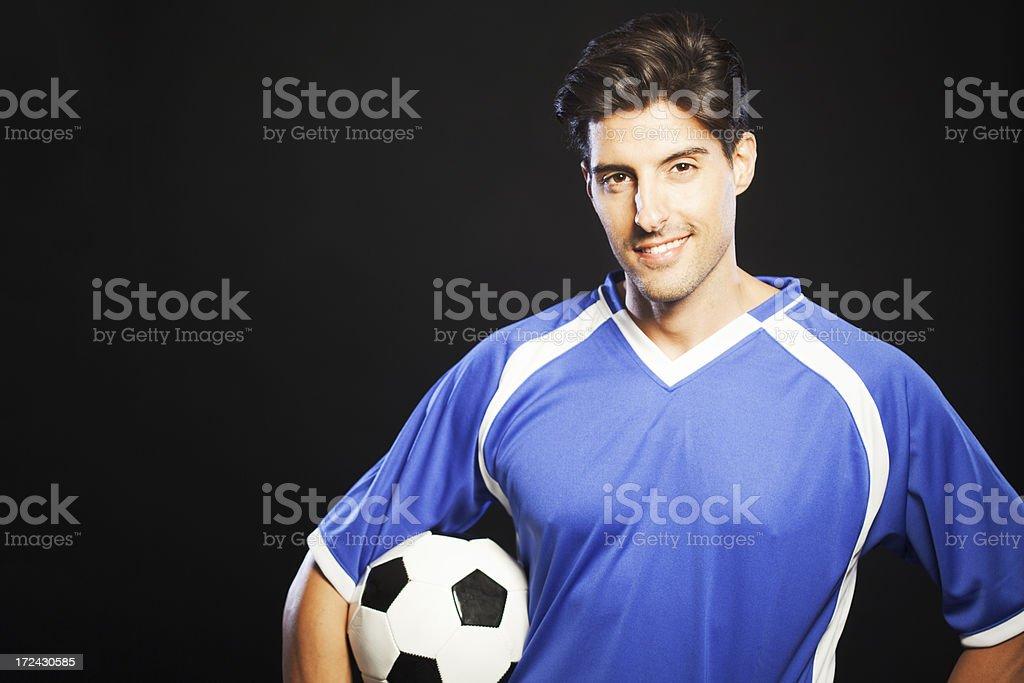 Soccer player portrait Horizontal royalty-free stock photo