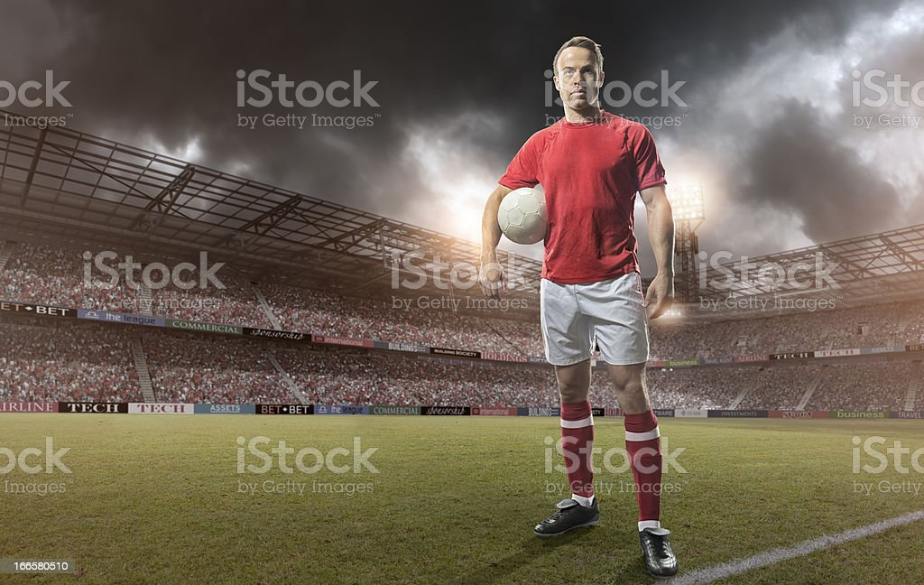 Soccer Player Portrait royalty-free stock photo