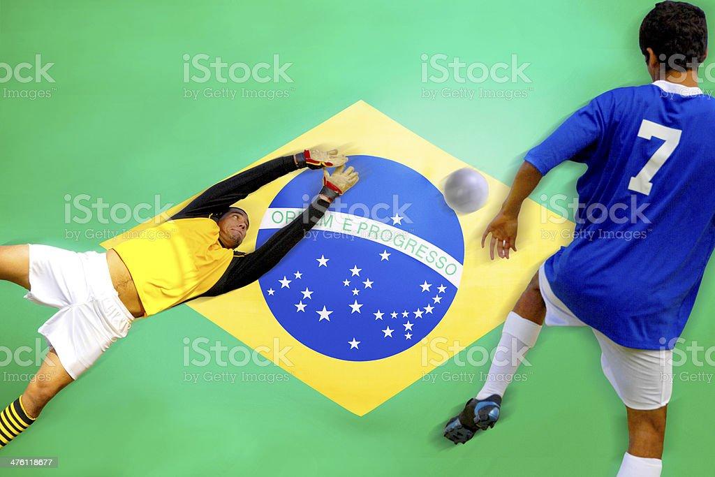 Pontuação de jogador de futebol - foto de acervo