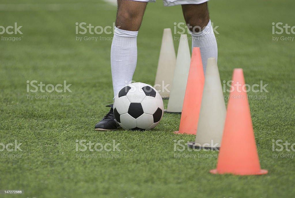 soccer player training stock photo