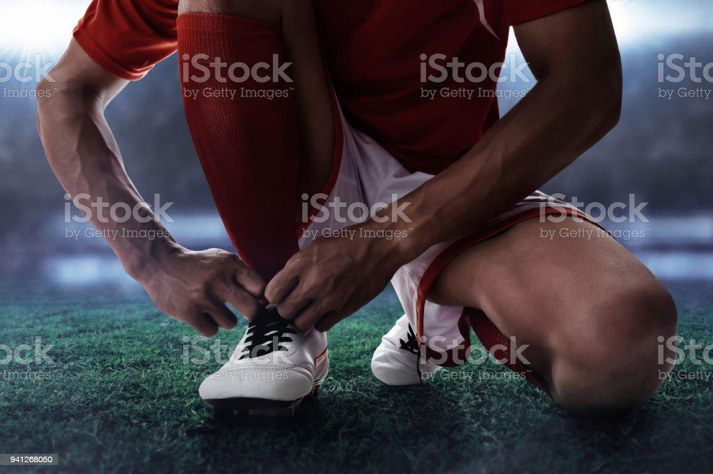 8cda23fd Atar Y De Zapatos Fútbol Stock Jugador Fotografía Imágenes Más zxEwBRwqn