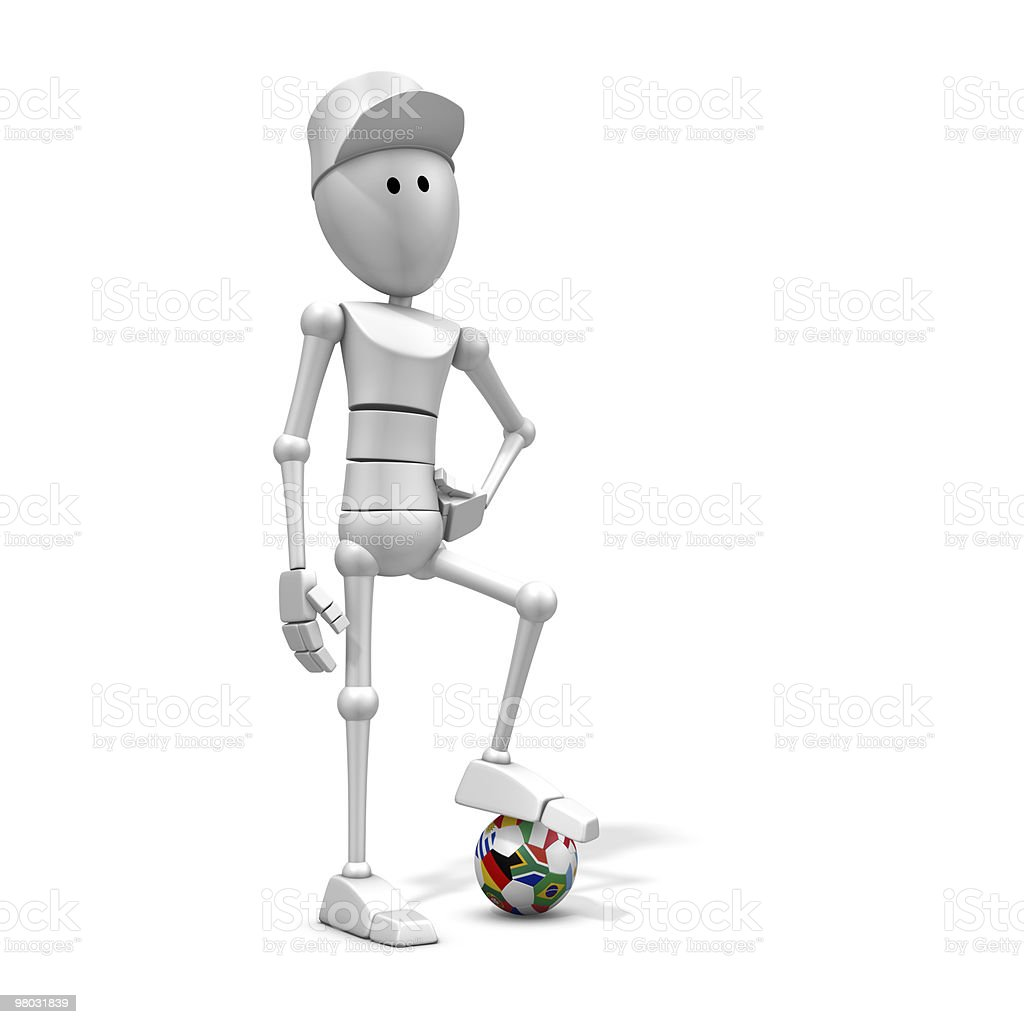 soccer player with world cup 2010 ball royalty-free stock photo