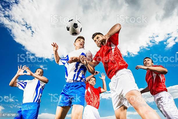 Soccer players heading a ball against the sky picture id471879811?b=1&k=6&m=471879811&s=612x612&h=pjqwln7i6 hz6x64arafarpwq9yzysb1zda49qr ulk=