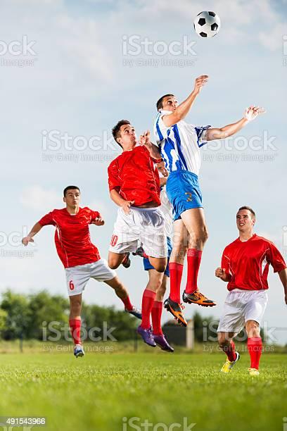 Soccer players heading the ball during a match picture id491543966?b=1&k=6&m=491543966&s=612x612&h=skxojuhgfak17olgmknsesqdrvcjh3yenzwo71ndhkq=