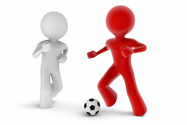 Jugadores de fútbol - foto de stock