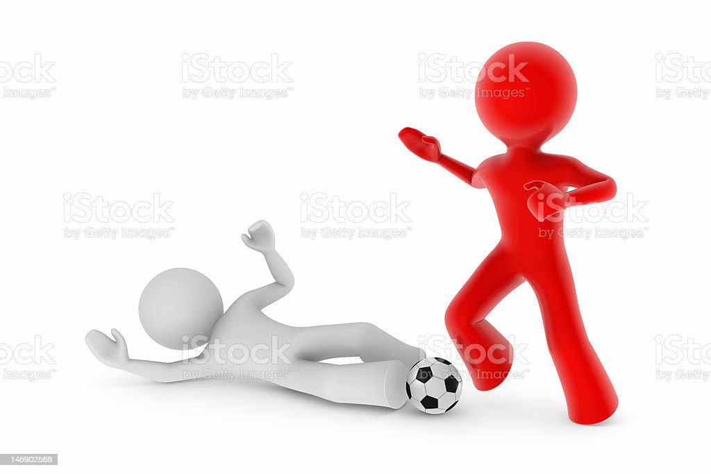 soccer players; sliding tackle stock photo