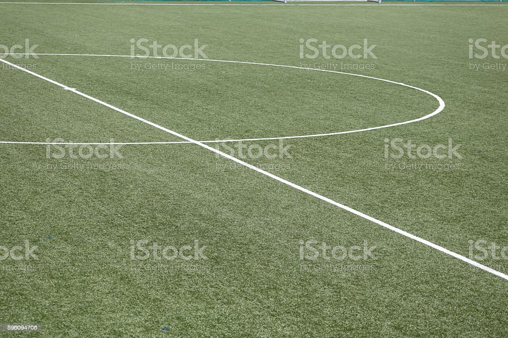 Soccer playing field royalty-free stock photo