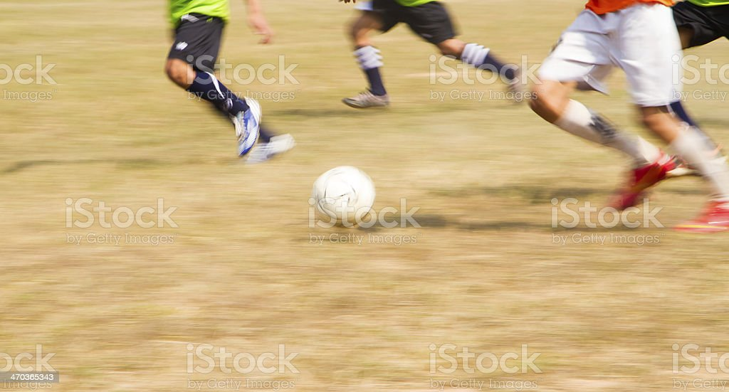 Soccer playing stock photo