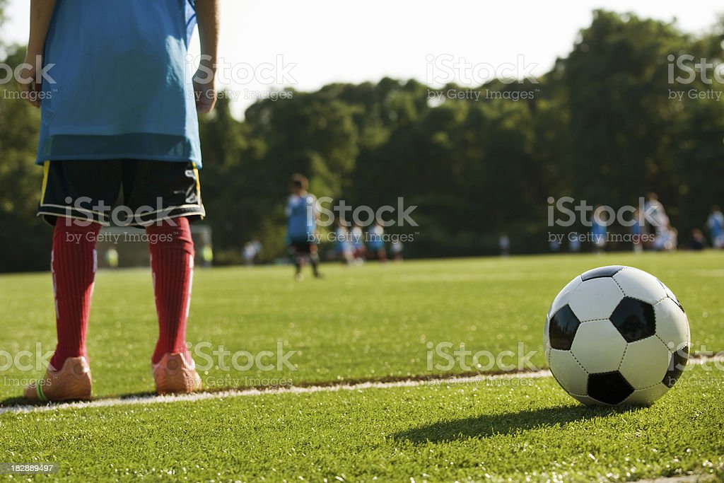 Fußball der Praxis - Lizenzfrei Kind Stock-Foto