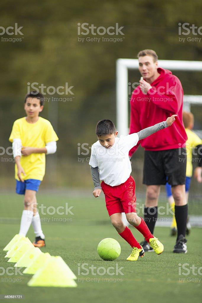 Soccer Practice stock photo