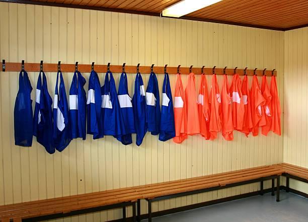 Soccer practice vests stock photo