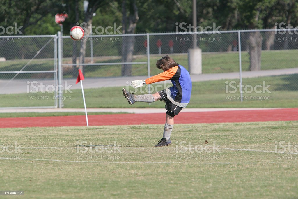 Soccer Punt royalty-free stock photo