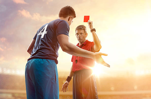 football joueur et Arbitre de football - Photo