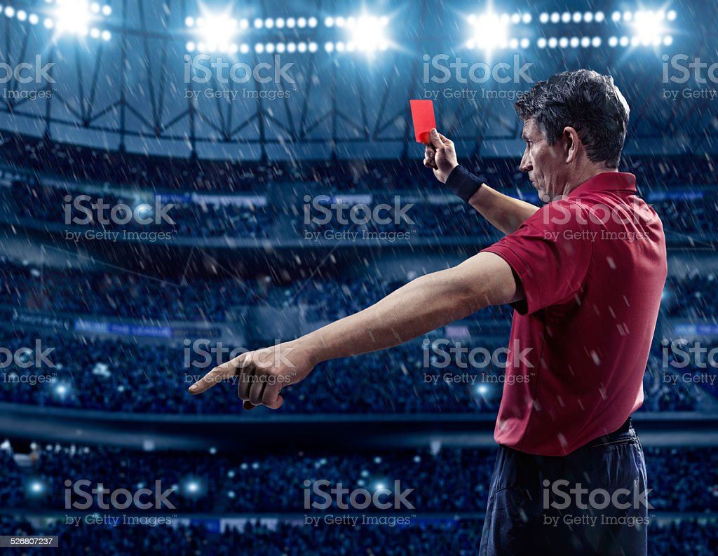 Árbitro de fútbol - foto de stock