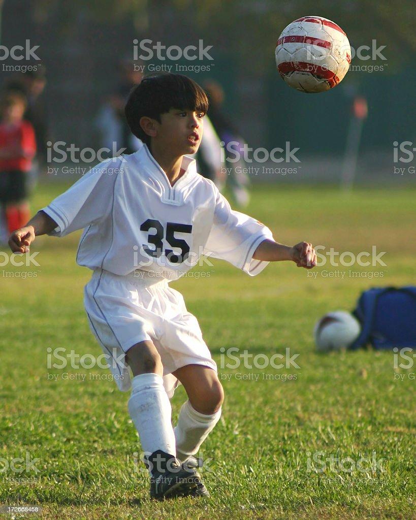 Soccer Series: Header royalty-free stock photo