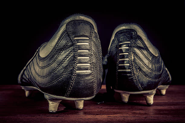 soccer shoes soccer shoes studded stock pictures, royalty-free photos & images
