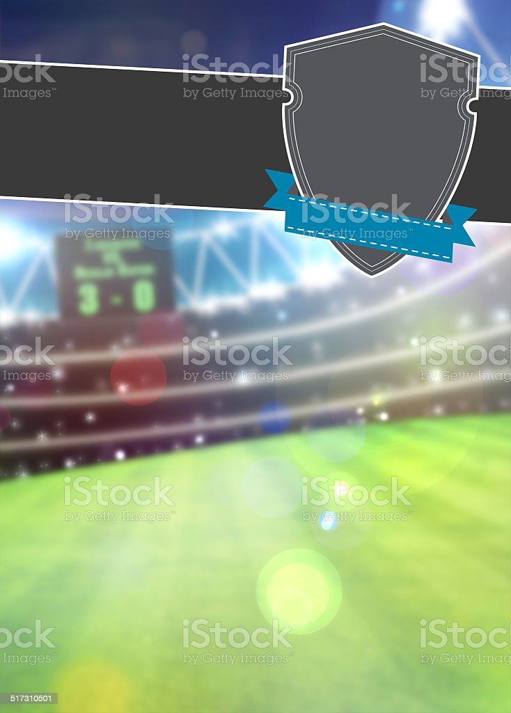 Soccer sport background stock photo