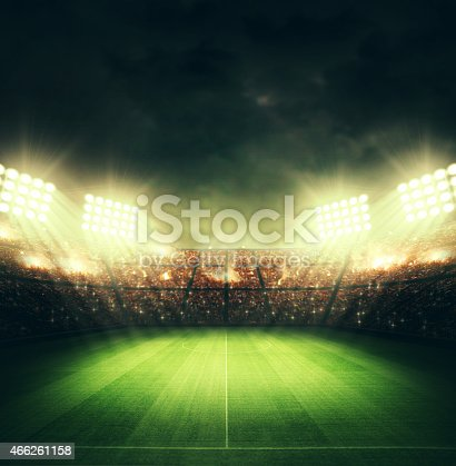istock soccer stadium and the bright lights 466261158