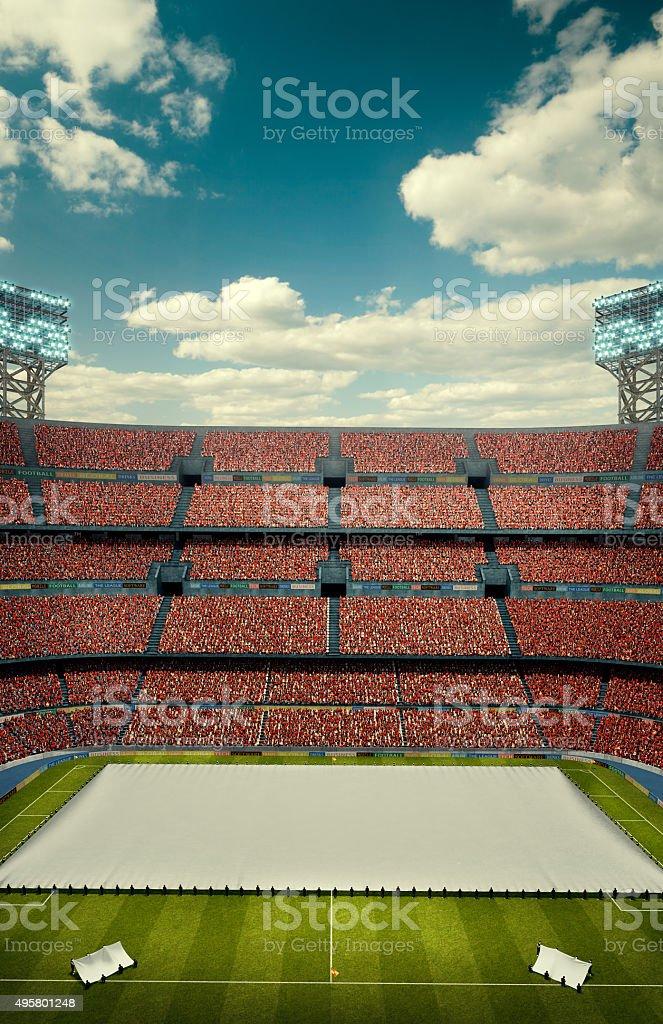 Soccer stadium celebration opening stock photo