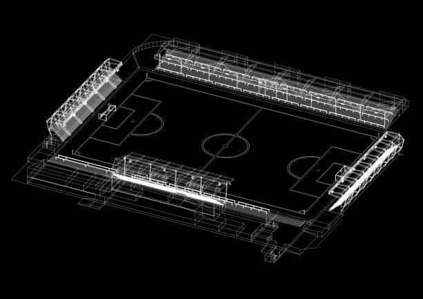 Soccer Stadium Design Architekt Blaupause – Foto