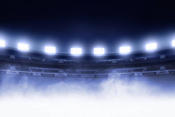 Soccer stadium field stock photo