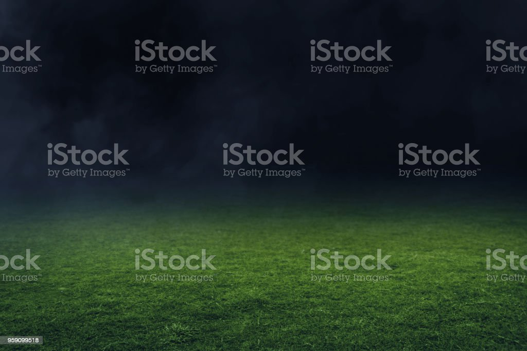 Soccer stadium field stock photo