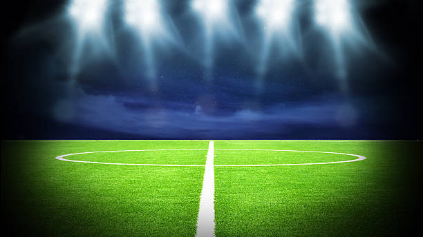 soccer stadium night - world title stock photos and pictures