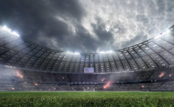 voetbalstadion. - internationale voetbal stockfoto's en -beelden