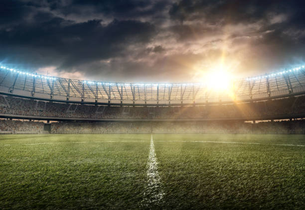 soccer stadium - soccer field stock photos and pictures