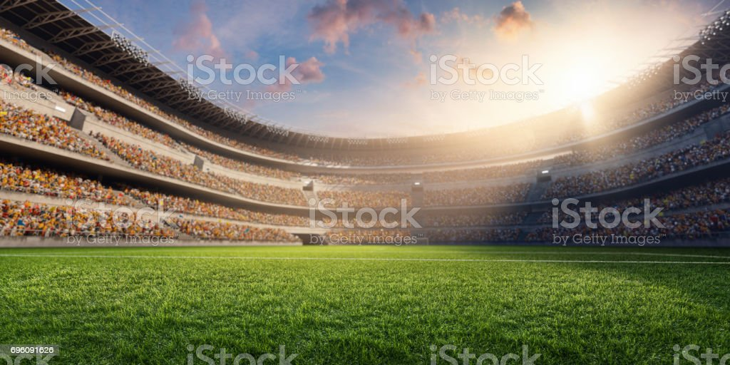 Estadio de fútbol 3D - foto de stock