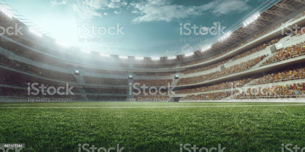 3D Fußball-Stadion – Foto