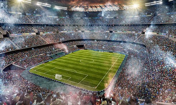 Fußballstadion Obermaterial Blick – Foto